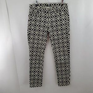 J Crew Toothpick Skinny Jeans 27 x 28 Black White